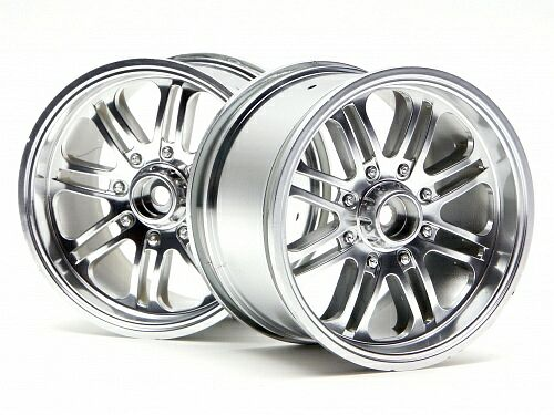 Диски трак 1/8 - 8 SPOKE SATIN CHROME (83X56MM/ HEX14) 2шт HPI-3138