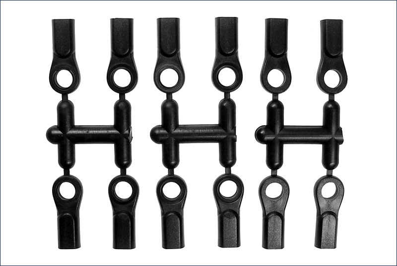 KYOSHO запчасти 6.8 Ball End (12 pcs) 1296