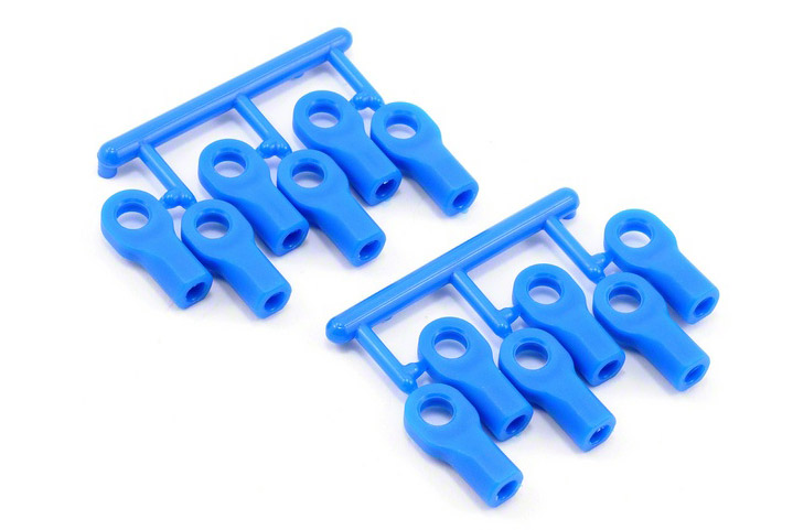RPM Short Rod Ends (12), Blue: TRA 1/10 RPM80475