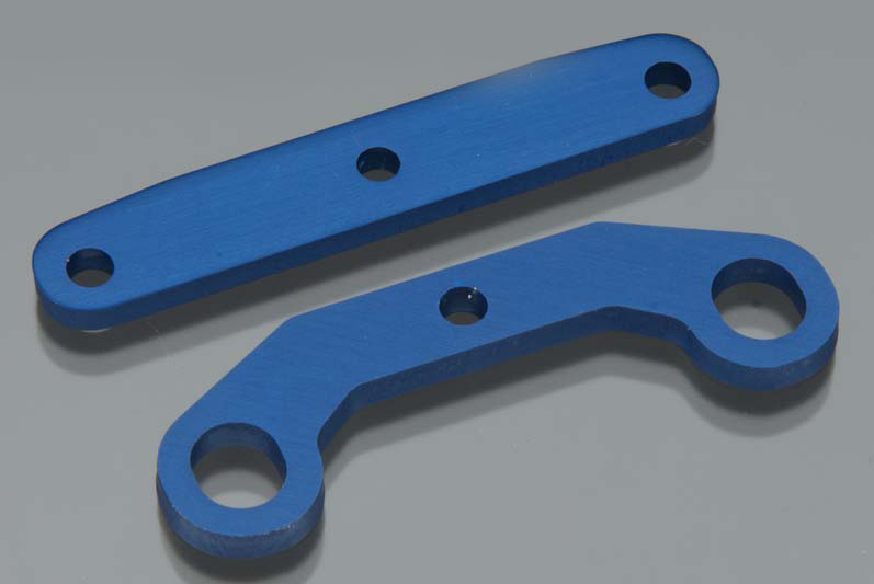 TRAXXAS запчасти Bulkhead tie bars, front  rear, aluminum (blue-anodized) TRA6423
