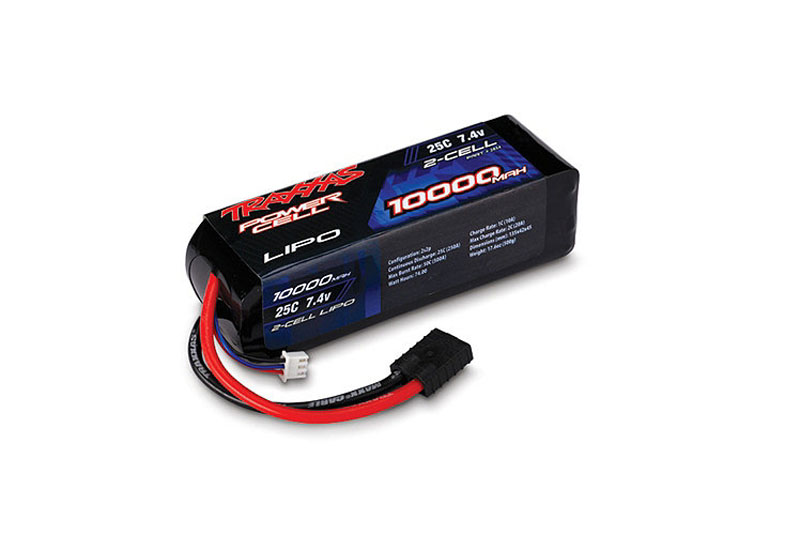 TRAXXAS запчасти 10000mAh 7.4v 2-Cell 25C LiPO Battery TRA2854