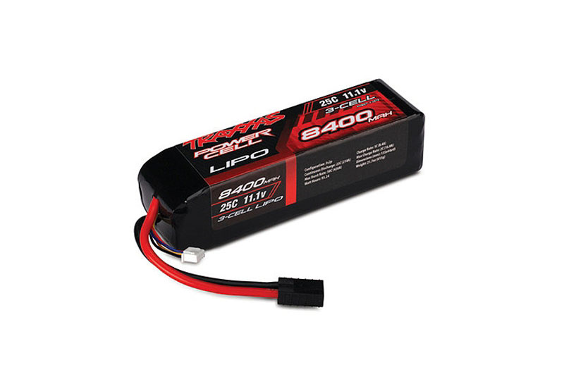 TRAXXAS запчасти 8400mAh 11.1v 3-Cell 25C LiPO Battery TRA2878