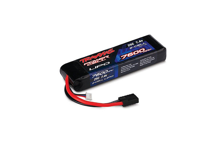 TRAXXAS запчасти 7600mAh 7.4v 2-Cell 25C LiPO Battery TRA2869