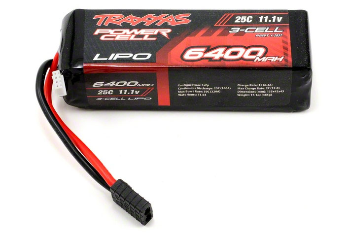 TRAXXAS запчасти 6400mAh 11.1v 3-Cell 25C LiPO Battery TRA2857