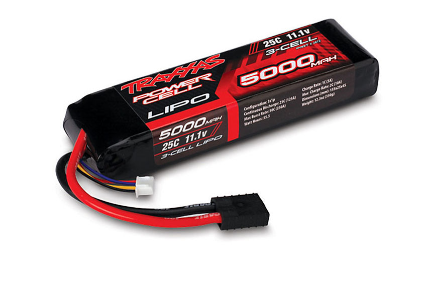TRAXXAS запчасти 5000mAh 11.1v 3-Cell 25C LiPO Battery TRA2872