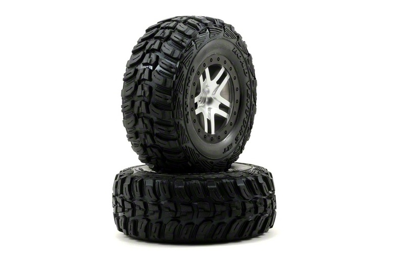 TRAXXAS запчасти Tires  wheels, assembled, glued (S1 ultra-solft off-road racing compound) (SCT Split-Spoke sati TRA6874R