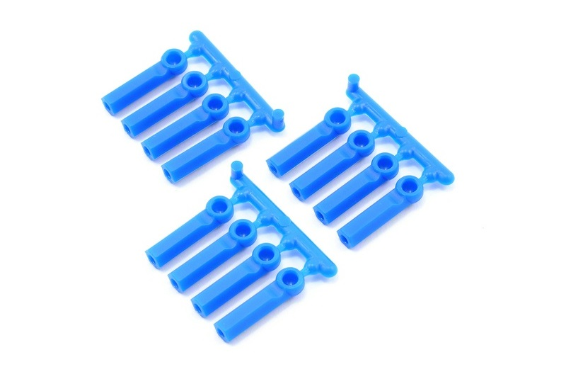 RPM Long Shank Rod Ends (12) Blue RPM73395
