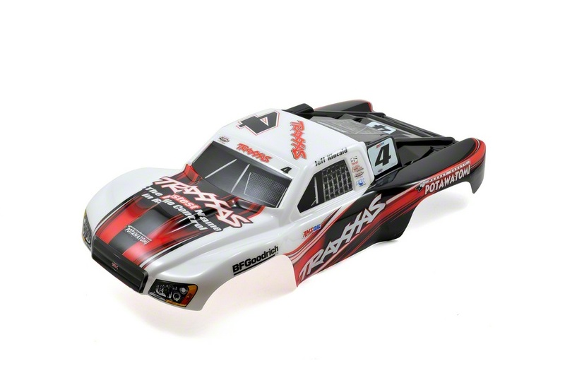 TRAXXAS запчасти Body, Slash 4X4, Jeff Kincaid (painted, decals applied) TRA6820