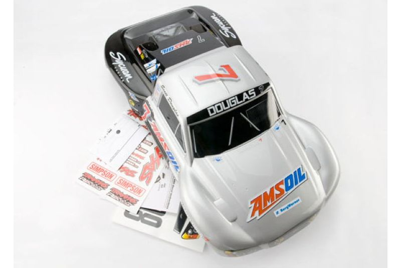 TRAXXAS запчасти Body, Scott Douglas/Mike Oberg, Slash/Slayer (painted, decals applied) TRA5817
