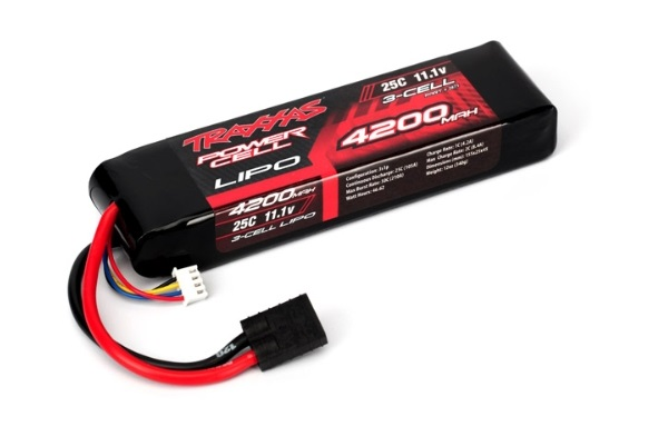 TRAXXAS запчасти 4200mAh 11.1v 3-Cell 25C LiPO Battery TRA2871