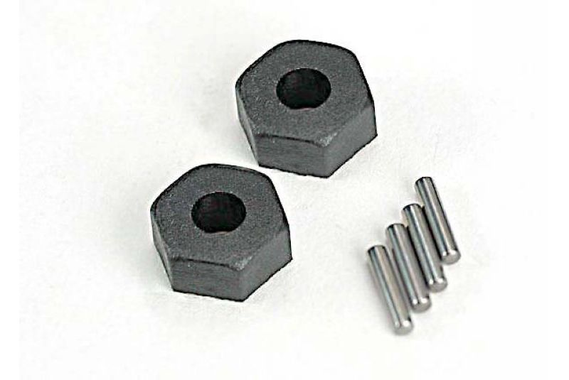 TRAXXAS запчасти Wheel hubs, hex (2)/ stub axle pins (2) TRA1654