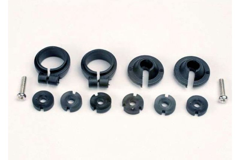 TRAXXAS запчасти Piston head set, (2 sets of 3 types)/ shock collars (2)/ spring retainers (2) TRA1965