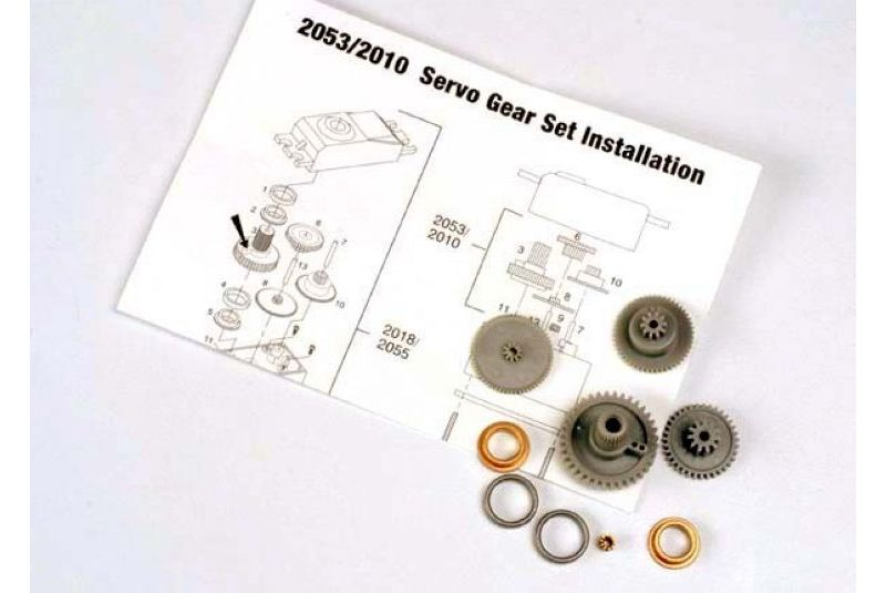 TRAXXAS запчасти Servo gears (for 2055, 2056 servos) TRA2053