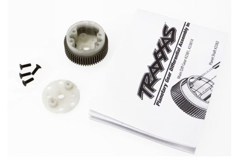 TRAXXAS запчасти Main diff with steel ring gear/ side cover plate/ screws (Bandit, Stampede, Rustler) TRA2381X