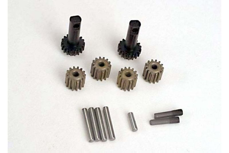 TRAXXAS запчасти Planet gears (4)/ planet shafts (4)/ sun gears (2)/sun gear alignment shaft (1) all hardened steel TRA2382