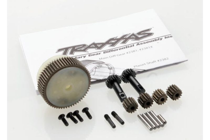 TRAXXAS запчасти Planetary gear differential with steel ring gear (complete) (fits Bandit, Stampede, Rustler) TRA2388X
