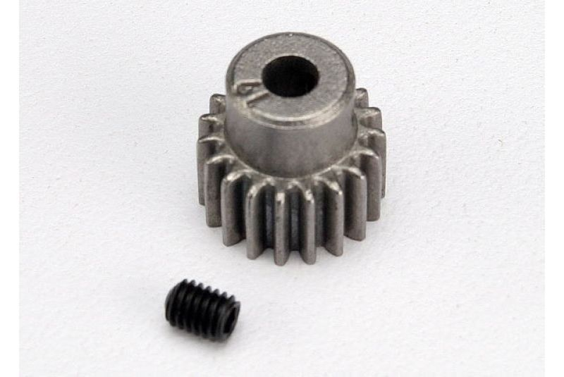 TRAXXAS запчасти Gear, 19-T pinion (48-pitch) / set screw TRA2419