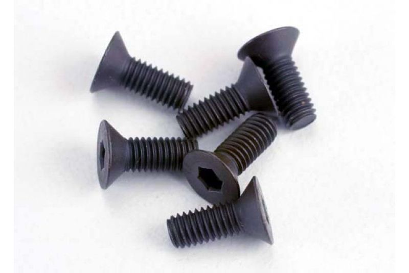 TRAXXAS запчасти Screws, 3x8mm countersunk machine (6) (hex drive) TRA2550