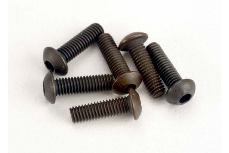 TRAXXAS запчасти Screws, 3x10mm button-head machine (hex drive) (6) TRA2577