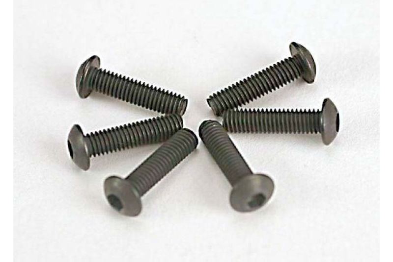 TRAXXAS запчасти Screws, 3x12mm button-head machine (hex drive) (6) TRA2578