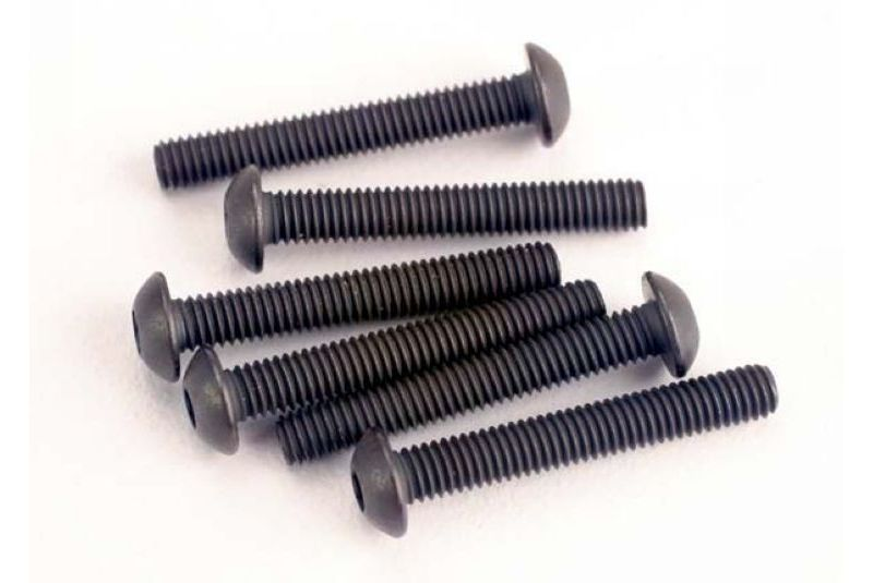 TRAXXAS запчасти Screws, 3x20mm button-head machine (hex drive) (6) TRA2580
