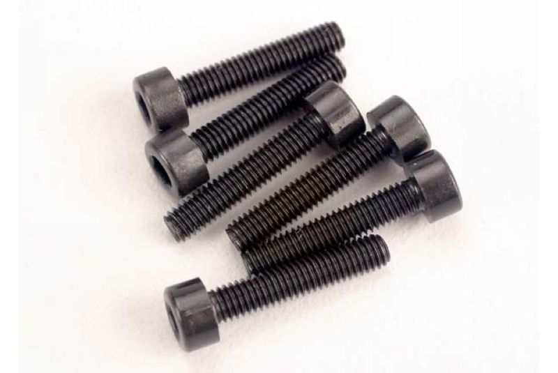 TRAXXAS запчасти Head screws, 3x15mm cap-head machine (hex drive) (6) (TRX 2.5) TRA2586