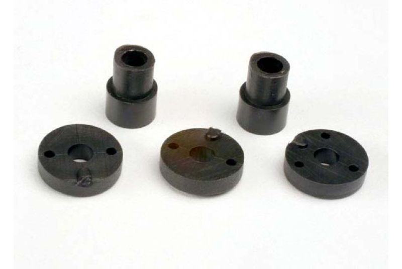 TRAXXAS запчасти Piston head set (2-hole (2)/ 3-hole (2))/ shock mounting bushings  washers (2) (Big Bore Shocks TRA2669