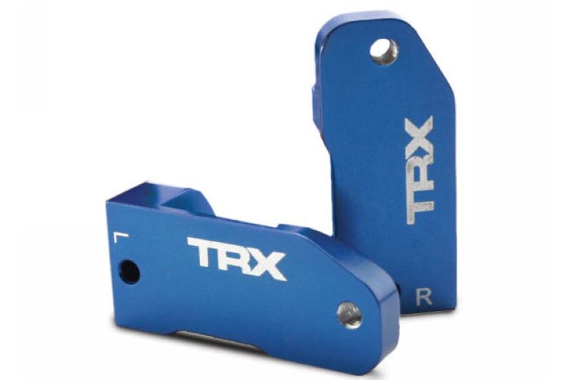 TRAXXAS запчасти Caster blocks, 30-degree, blue-anodized 6061-T6 aluminum (left  right)/ suspension screw pin (2 TRA3632A