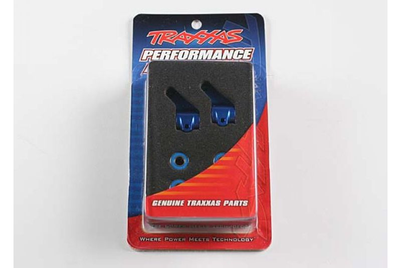 TRAXXAS запчасти Steering blocks, Rustler/Stampede/Bandit (2), 6061-T6 aluminum (blue-anodized)/ 5x11mm ball bearings TRA3636A