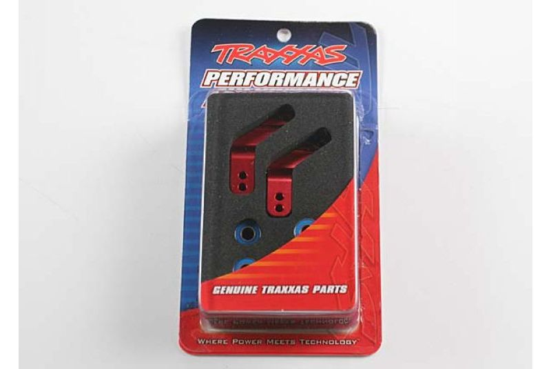 TRAXXAS запчасти Stub axle carriers, Rustler/Stampede/Bandit (2), 6061-T6 aluminum (red-anodized)/ 5x11mm ball bearin TRA3652X