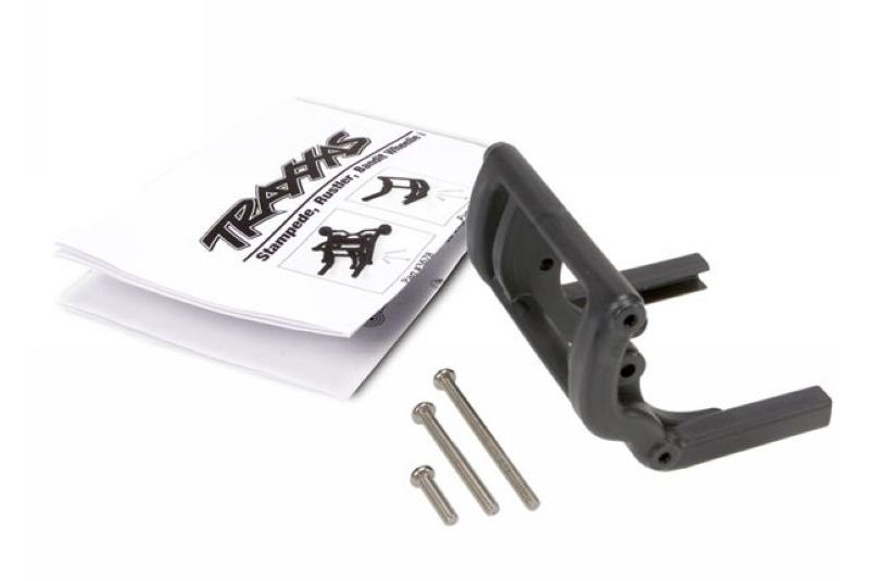 TRAXXAS запчасти Wheelie bar mount (1)/ hardware (black) TRA3677