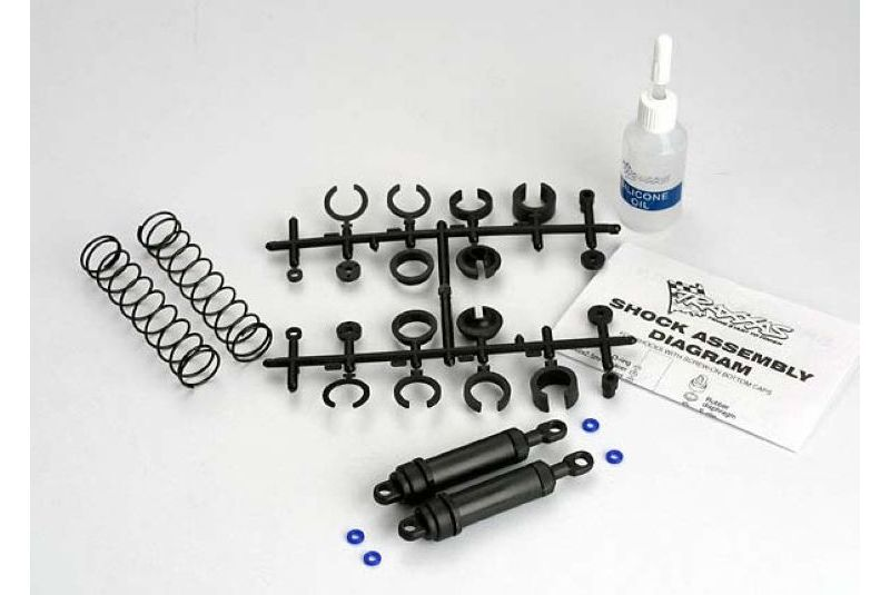 TRAXXAS запчасти Ultra Shocks (black) (xx-long) (complete w/ spring pre-load spacers  springs) (rear) (2) TRA3762