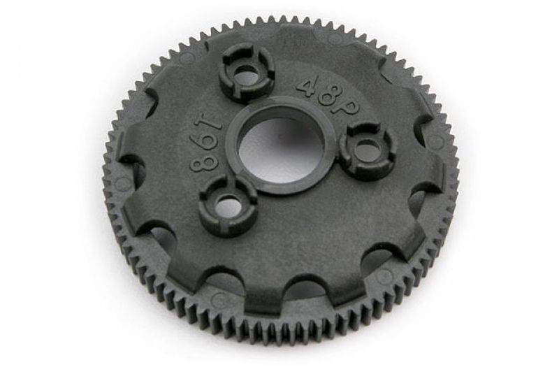 TRAXXAS запчасти Spur gear, 86-tooth (48-pitch) (for models with Torque-Control slipper clutch) TRA4686