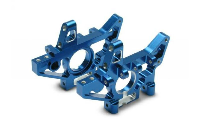 TRAXXAS запчасти Bulkheads, front (machined 6061-T6 aluminum) (blue) (lr) (requires use of 4939X suspension pins TRA4930X
