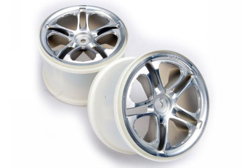 TRAXXAS запчасти Wheels, SS (split spoke) 3.8'' (satin) (2) (fits Revo/Maxx series) TRA5172