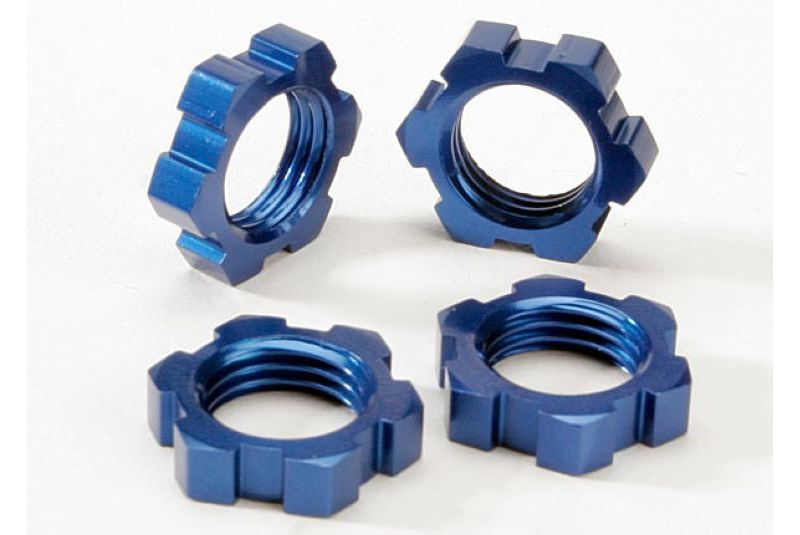 TRAXXAS запчасти Wheel nuts, splined, 17mm (blue-anodized) (4) TRA5353