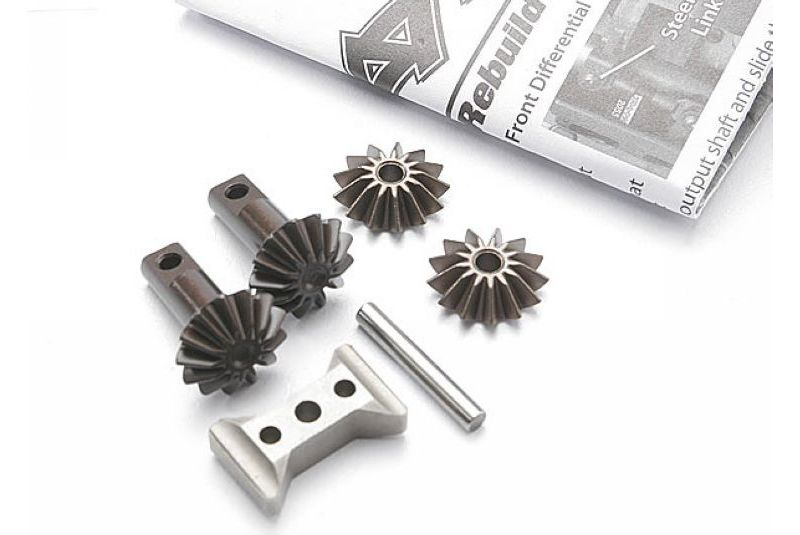 TRAXXAS запчасти Gear set, differential (output gears (2)/ spider gears (2)/ spider gear shaft/ diff carrier support) TRA5382X