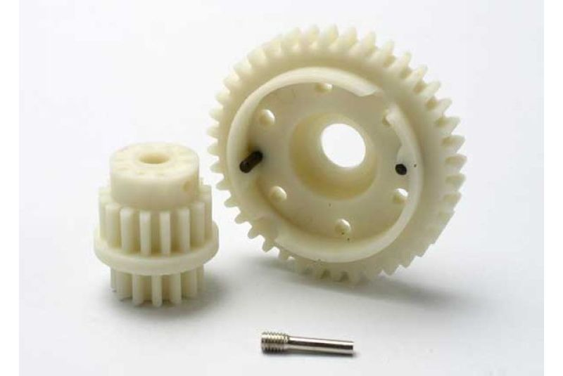 Gear set, 2-speed close ratio (2nd speed gear 40T, 13T-16T input gears, hardware) TRA5383