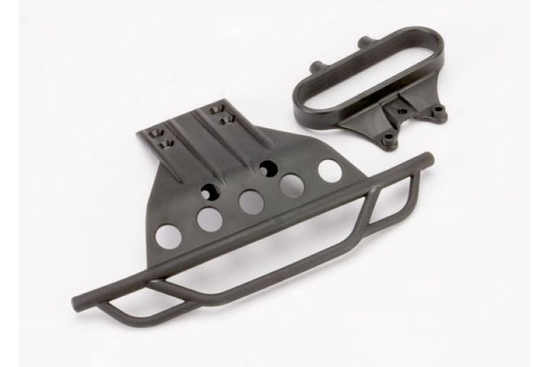 TRAXXAS запчасти Bumper, front/ bumper mount, front (black) TRA5835