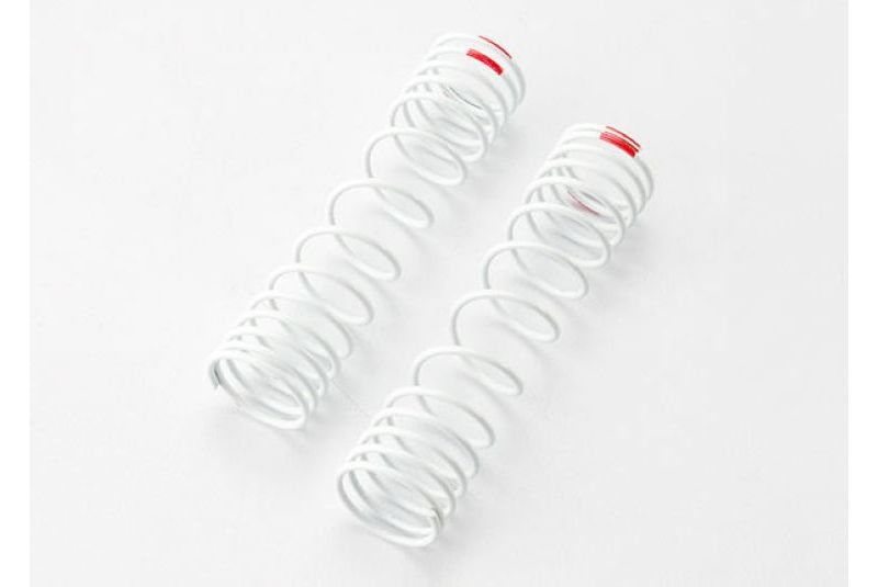 TRAXXAS запчасти Springs, rear (white) (progressive rate) (2) (fits #5862 aluminum Big Bore shocks) TRA5859