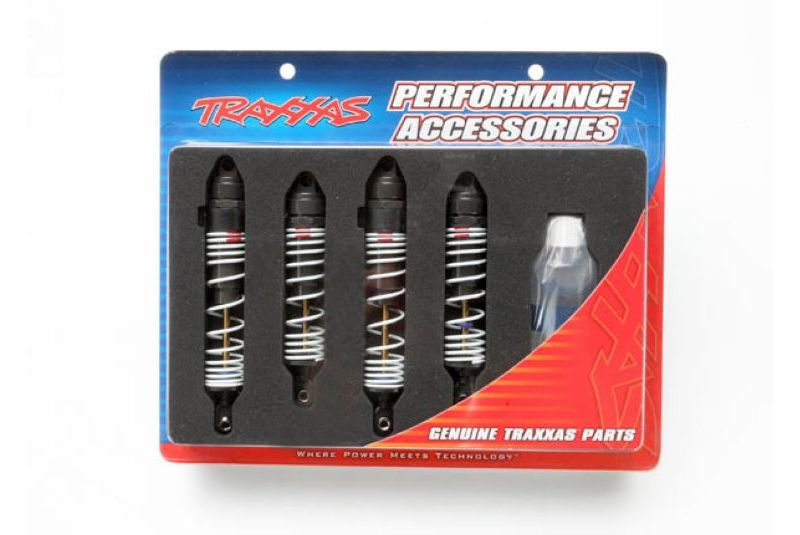 TRAXXAS запчасти Big Bore shocks (hard-anodized  PTFE-coated T6 aluminum) (assembled with TiN shafts and springs TRA5862